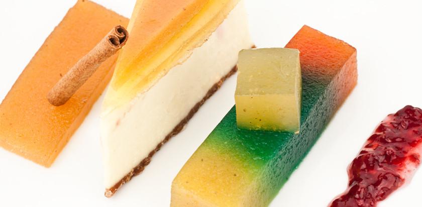 Tarta de queso con dulce de frutas - Membrillo San Lorenzo